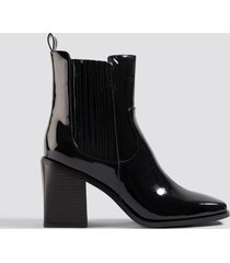 na-kd shoes western chelsea boots - black