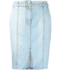 pinko belted pencil skirt - blue
