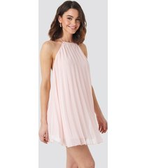 na-kd party mini pleated trapeze dress - pink