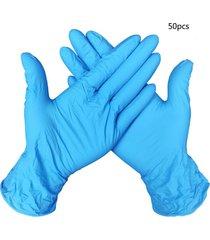 guantes de goma de nitrilo desechables de 9 pulgadas del trabajo de limpieza guantes dedo 50/100pc