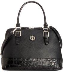 giani bernini saffiano croco dome satchel, created for macy's