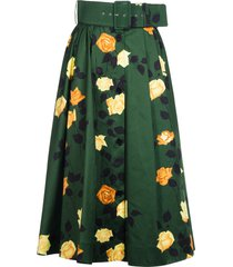 msgm floral print pleated skirt
