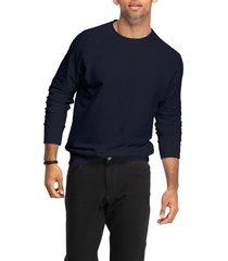 men's swet tailor crewneck sweatshirt, size small - blue