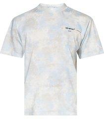 light blue and grey tie-dye t-shirt