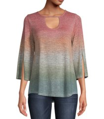 john paul richard dip-dyed keyhole top