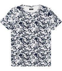 t-shirt mc. queen wit / blauw