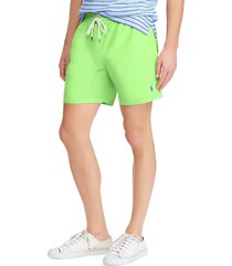 lauren ralph lauren men's traveler swim shorts - lime - size l