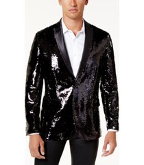 inc men's slim-fit reversible sequined blazer, created for macy's