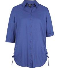 camicetta lunga in viscosa a maniche corte (blu) - bpc bonprix collection