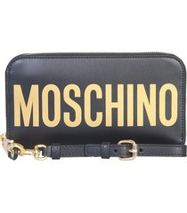 moschino long wallet with maxi logo