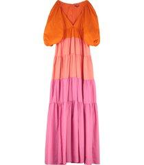 staud meadow nylon maxi dress