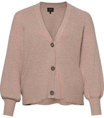 cardigan v neck plus buttons ribbed edges stickad tröja cardigan rosa zizzi