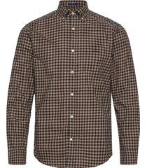 d1.winter twi buffalo check reg bd skjorta casual beige gant