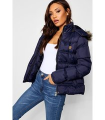 short quilted jacket, navy