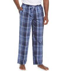 men's norstrom men's poplin pajama pants, size x-large - blue