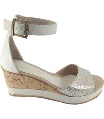 sandalia  blanca mdl calzados newport