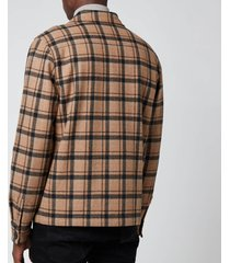 ps paul smith men's blouson jacket - chocolate - m