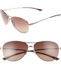 women's smith langley 60mm chromapop(tm) aviator sunglasses - rose gold/ sienna