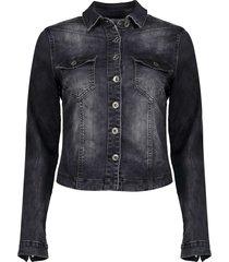 geisha jeansjacket black denim zwart