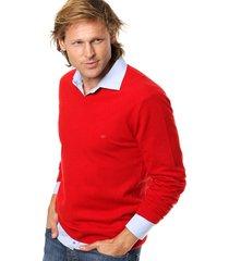 sweater rojo scotfield shop amarra