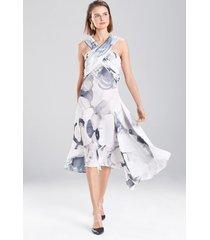 eden floral crisscross dress, women's, black, size 6, josie natori