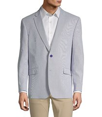 stripe stretch cotton sport jacket