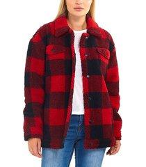 chaqueta brave soul rojo - calce regular