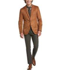 paisley & gray slim fit suit separates coat cognac