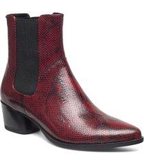 lara shoes boots ankle boots ankle boot - heel röd vagabond