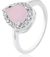 anel prata rara princesa gota rosa milk