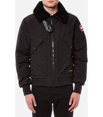 canada goose men's bromely bomber jacket - black - s - black