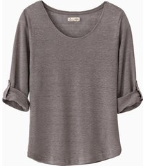 linnen shirt, taupe 36
