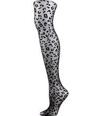 leopard-print sheer tights