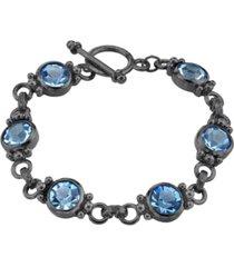 2028 black-tone toggle bracelet