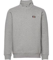oakport quarter zip sweat-shirt tröja grå dickies
