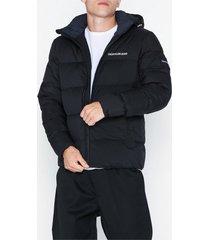 calvin klein jeans hooded down puffer jacket jackor svart