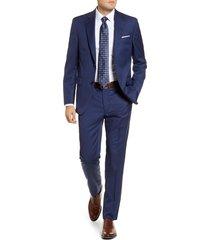 men's big & tall peter millar flynn classic fit check wool suit