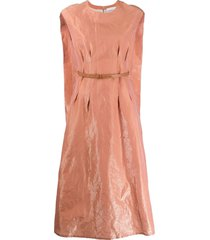 fabiana filippi cape back shift dress - pink