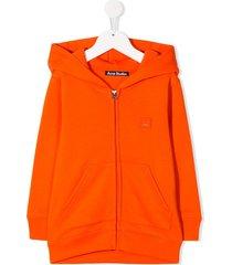 acne studios mini ferris zip hoodie - orange
