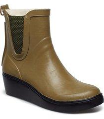 womens wegde rub regnstövlar skor brun ilse jacobsen