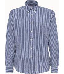 aspesi camicia bacchettata azzurra