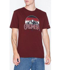 columbia basin butte ss graphic tee t-shirts & linnen red
