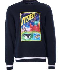 paul smith 'pulp' print cotton sweatshirt | black | 668u-fp2516 79