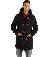 abrigo es heavy moleskin coat negro guess