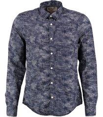 garcia donkerblauw slim fit overhemd
