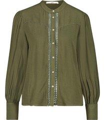 blouse met geplooide mouwen tamia  groen