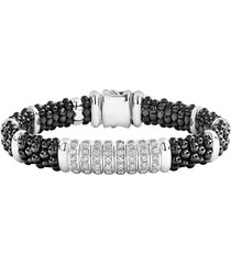 women's lagos black caviar diamond 8-link bracelet