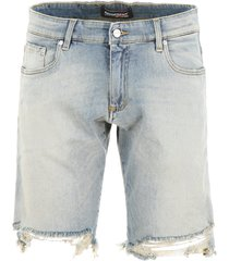 represent destroyed denim shorts