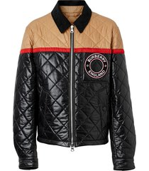 burberry harrington colour-block jacket - black