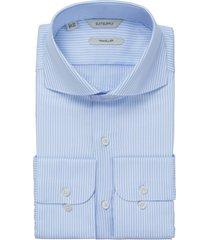 men's suitsupply extra slim fit stripe dress shirt, size 15r - blue